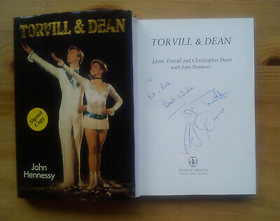 Jayne TORVILL & Christopher DEAN Biography SIGNED BY BOTH