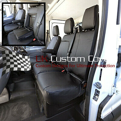 Ford Transit Van Mk9 & Tipper Leatherette Front Seat Covers 2020 On 292