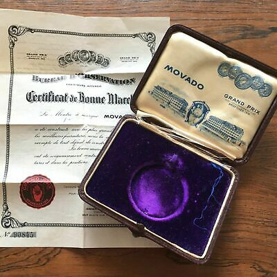 Movado Pocket Watch Chronometer Box And Blank Cosc Certificate 100% Genuine