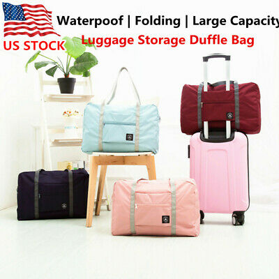 Portable Folding Travel Luggage Baggage Storage Carry-On Duffle Bag Waterpoof
