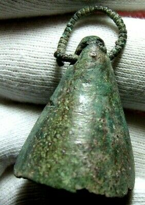 Antique bronze Bell with hook to identify