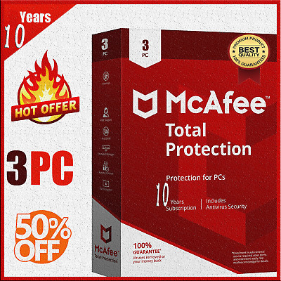 McAfee Total Protection 2020 🔥: 3 Device 10 Year KEY 🔐 instant eBay message 📥