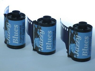 3 Rolls Ultrafine Jazzy Blues Experimental Color Print Film 35mm x 36 Exp C-41