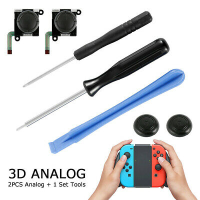 For Nintendo Switch Joy-Con Replacement 3D Analog Joystick Thumb Repair Tool Set
