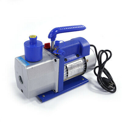 Single Rotary Vane 1/3 HP 5CFM Horsepower Vacuum Pump AC110V 60Hz Electric