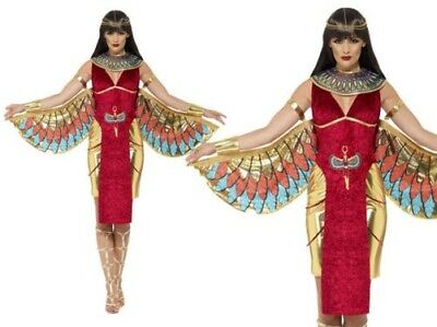 Ladies Egyptian Queen Goddess Ancient Egypt Cleopatra Costume Fancy Dress 8-18