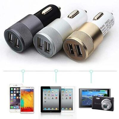 1x Universal LED Twin Port USB 12-24V Dual Car Charger Cigarette Socket Lighter