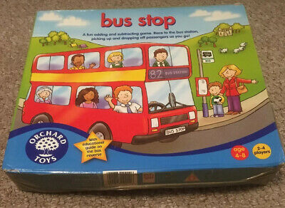 child learn addition subtraction math game Orchard Toys Bus Stop Game NEW