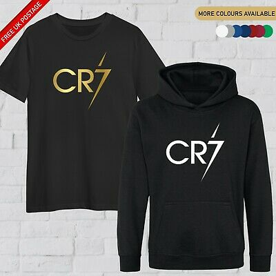 Kids CR7 T Shirt Forza Juve Football Hoodie Ronaldo Soccer Gift Boys Girls Top