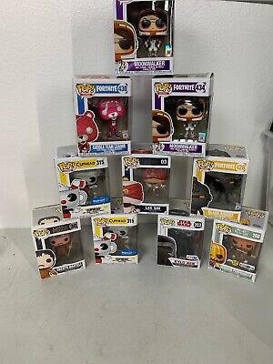 Funko Pop Lot Of 10 Fortnite, Star Wars, Game Of Thrones, Toys R Us E.c.t