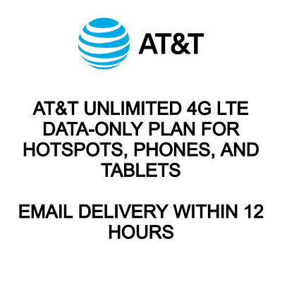 At&T Unlimited 4G Lte Data-Only Plan For Hotspots, Phones, And Tablets