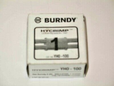 New Burndy Hycrimp YHO100 Compression Connectors W/ Oxide Inhibitor