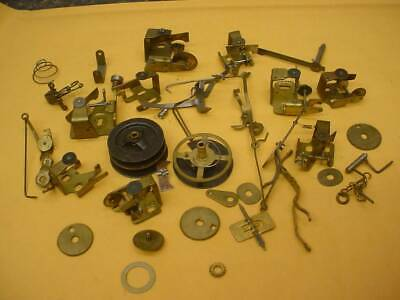 Vintage Set Of Brass Cuckoo Clock Music Movement Governor Gears Fly Wheel E248 F