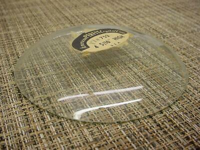 """NOS 4-5/16"""" Perfit Round Domed / Convex Replacement Alarm Clock Glass E231a"""