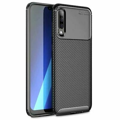 TPU Back Cover Carbon Case For Samsung Galaxy A30 A50 A70 Matte Protective
