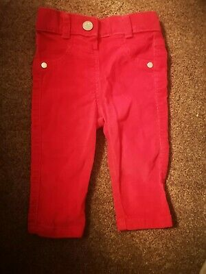 Baby Girl Fuchsia Pink Cord Jeans Age 6-9 Months - George
