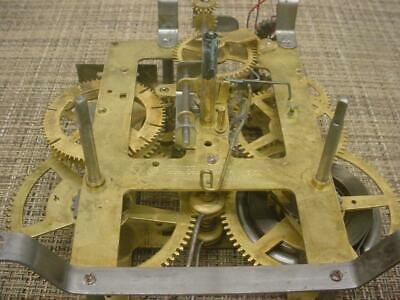 Old Vintage 12 34 E. Ingraham Brass Mantle Clock Movement Bim-Bam D039b