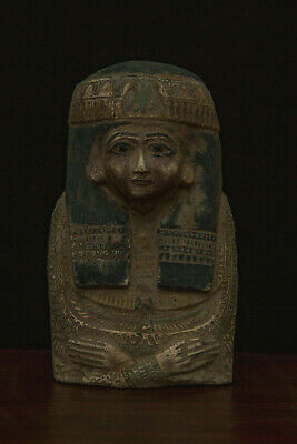 EGYPTIAN ANTIQUES EGYPT QUEEN Hatshepsut STATUE Head PHARAOH Carved LIMESTONE BC