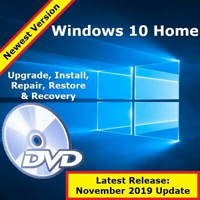 Windows 10 Upgrade Disc for Windows 7 or 8.1 Home - OS Installation Media / DVD