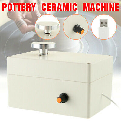 Mini Electric Pottery Wheel Ceramic Work Clay Art Craft Production Machine USB