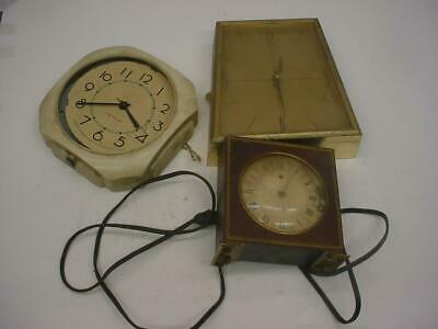 Lot of Vintage Art Deco Clocks  WestClox Seth Thomas CaraVelle Parts Repair D411