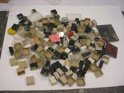 Assortment of Vintage Jeweler's Movement Tins, Parts Boxes & Ring Displays D402