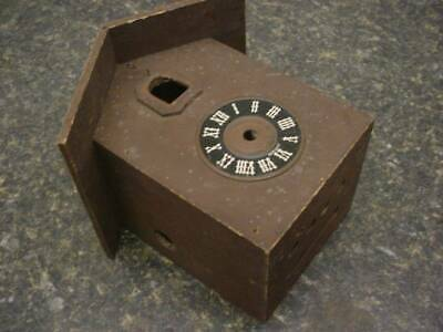 Small Vintage German Cuckoo Clock Case w/hardboard Dial for Repair D230