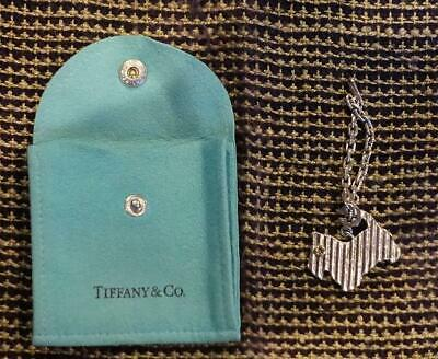 TIFFANY & CO. Silver 925 Dog Motif Scottish terrier Bag Charm Keychain Key Ring