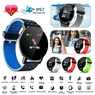 119Plus Smart Watch Bluetooth Heart Rate Blood Pressure Monitor Fitness Tracker