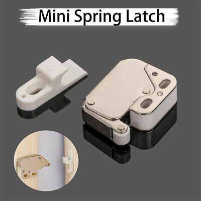Push To Open Catch Mini Tip Spring Loaded Touch Release Cupboard Cabinet Latch