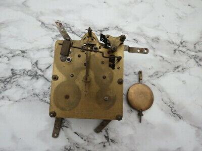 Vintage German 8 Day Striking Clock Movement For Spares Or Repair (Lot 5)