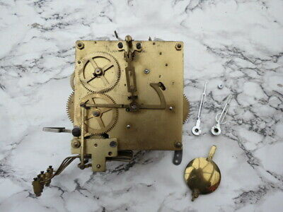 Vintage German Westminster Chime Clock Movement, Etc For Spares/Repair (Lot 9)