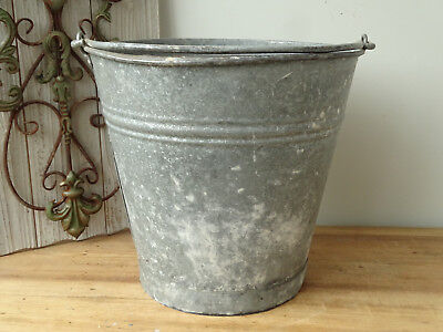T4541 Old Zinc Bucket Zinc Plated Zinc Bucket Close