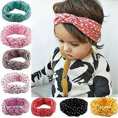 Baby Rabbit Headband Cotton Elastic Bowknot Hair Band Girl Bow-knot Newborn Bow