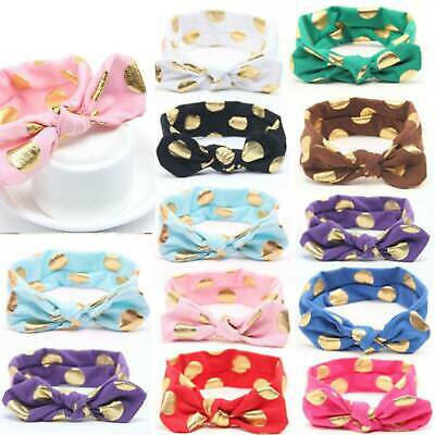 Baby Rabbit Headband Cotton Elastic Cute Hair Band Girls Bow-knot Newborn Bow
