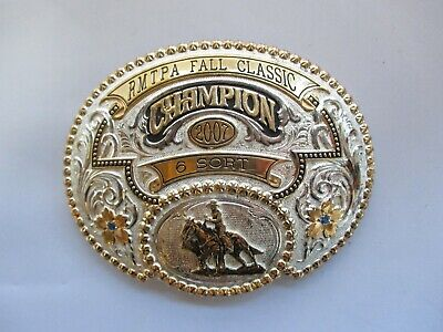 Western Cowboy Cross Antique Silver Gold Trophy Belt Buckle for popper Belt DR1