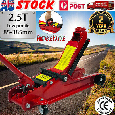 NEW 2.5 Ton Hydraulic Floor Jack Trolley Low Profile Car Quick Lifting 85-385mm