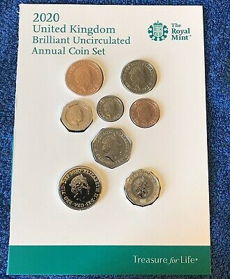 2019 Royal Mint Definitive BUNC 6 Coin Set From 1p to 50p Royal Shield Of Arms