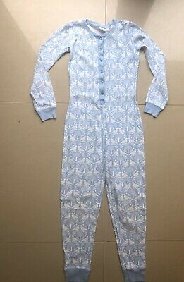 NEW Mini Boden Girls 12 Years All In One Pyjamas Pjs Blue Cotton 11-12 years
