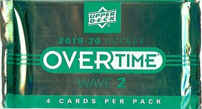 2019-20 Upper Deck Overtime Packs Factory Sealed Autos Rookies WAVE 2