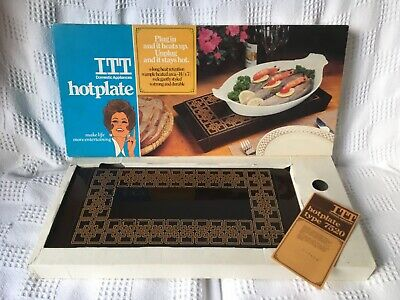 Vintage ITT electric ceramic hotplate Electric Plate Dish Food Warmer