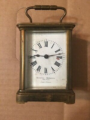 Small Antique French Carriage Clock Parts Ovington Brothers New York