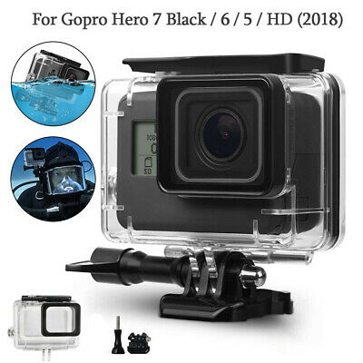 Waterproof Diving Housing Case Cover Protective Shell for Gopro Hero 5/6/7 Black