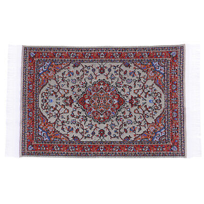 1:12 Dollhouse miniature embroidered carpet woven floral rug floor coveri_sh