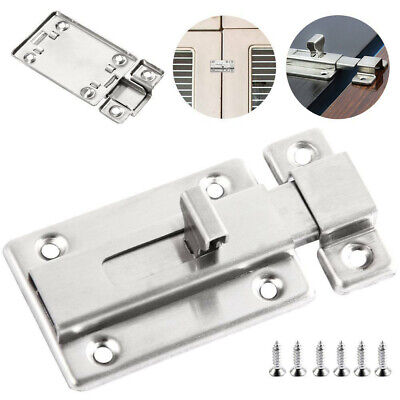 Heavy Duty Sliding Door Bolt Bathroom Toilet Dead Lock Slide Gate Catch I9Z