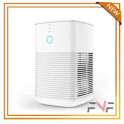3 in 1 Air Purifier for Allergies Carbon Filters Speeds Portable Purifiers White