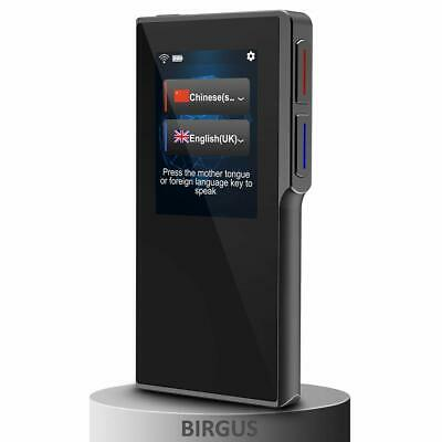 "[Upgraded] Birgus Smart Voice Translator Device Support 82 Languages 2.4"" Screen"