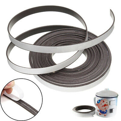 5M Self Adhesive Magnetic Tape Strips 15mm Flexible Sticky Craft Magnet Strip