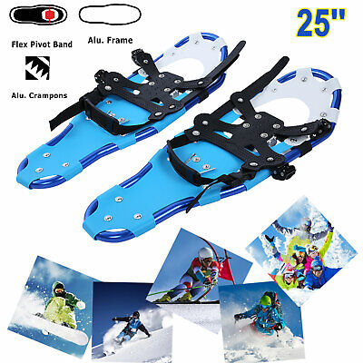 1 Pair 25'' Blue All Terrain Sports Snowshoes Aluminum Alloy + Free Carrying Bag