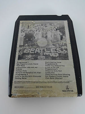 Beatles 8 track cartridge 8X-PS 7027 Sgt.Peppers Lonely Hearts Club Band 1972